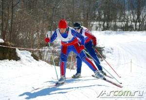 Фото - Лыжники в Норском на соревновании