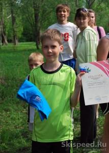Победитель соревнований по бегу