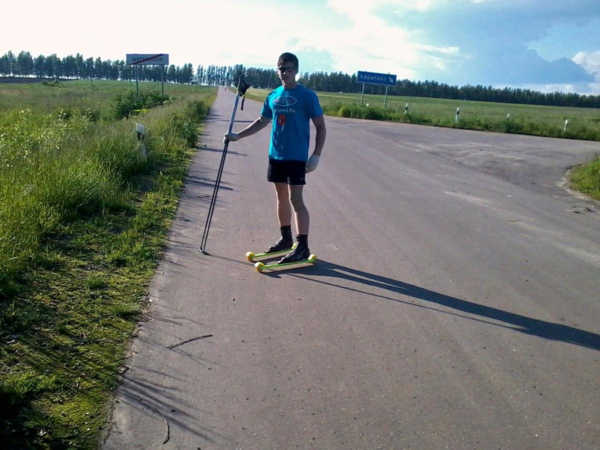 Тренировки на лыжероллерах в Щеглевском