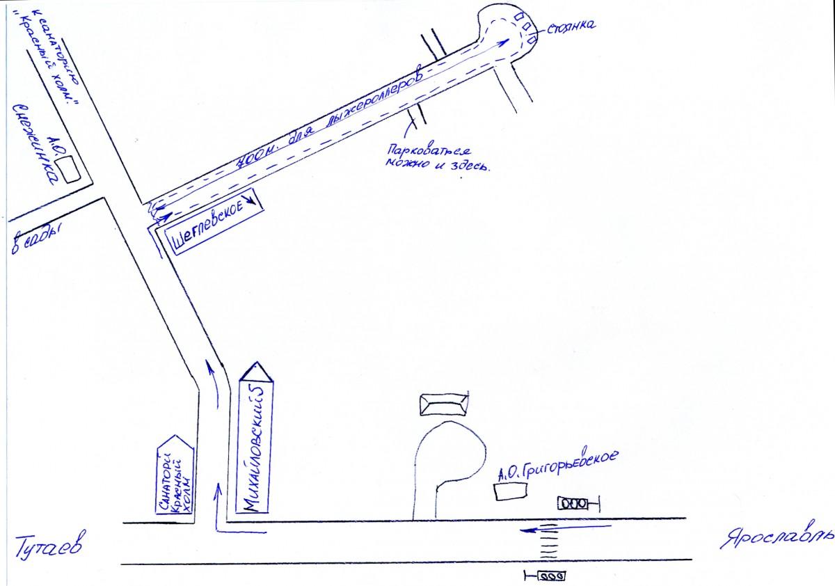 Схема проезда до деревни Щеглевское