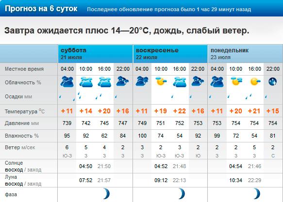 Погода в Плсе