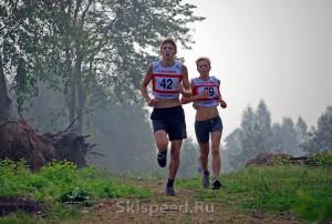 Фото спортсменов на кроссе в Демино