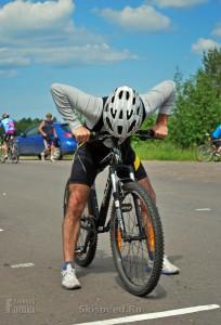 Старт велогонщика