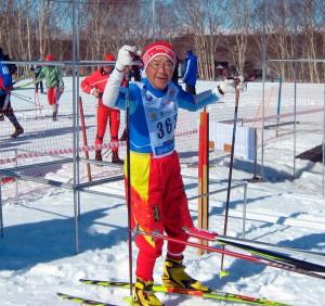 Лыжник из Японии