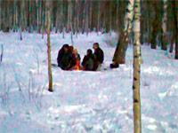 Костры на лыжной трассе