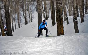 Участок лыжной трассы