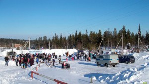 Лыжная трасса в Усинске