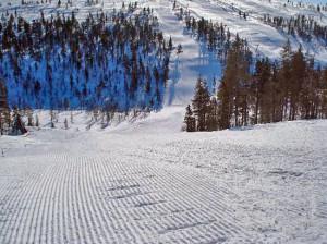 Лыжная трасса Саариселька, Финляндия