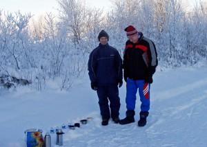 На лыжной трассе, Ухта