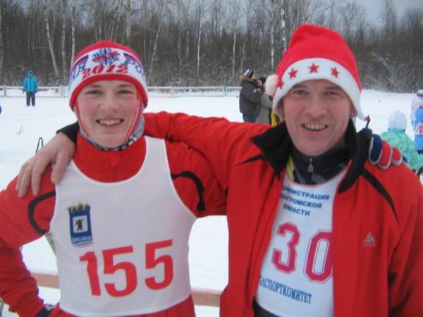 Фото - Дима и Руслан перед стартом Новогодней гонки в Незнаново