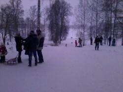 Вандалы на лыжне