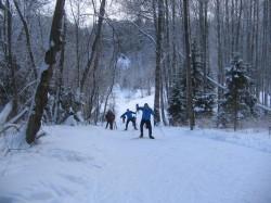 Лыжня в Белкино Лобовичок вид сверху