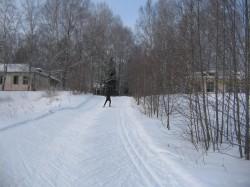 Лыжная траса в Белкино Тягунок в Спутнике вид снизу