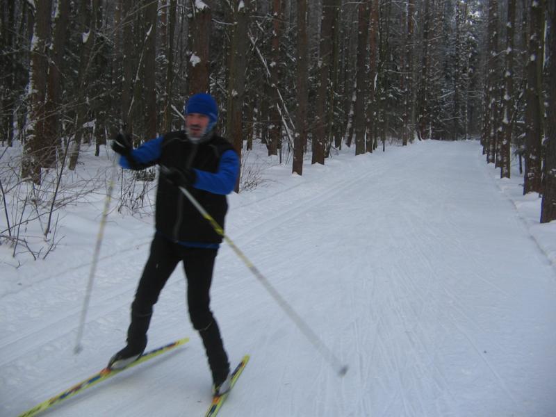 Лыжня в Белкино Верхние части подьемов в березках
