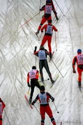 Лыжный марафон Николов перевоз в русле реки Дубна