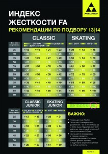 Фото таблицы - Индекс жесткости лыж Фишер (FA)