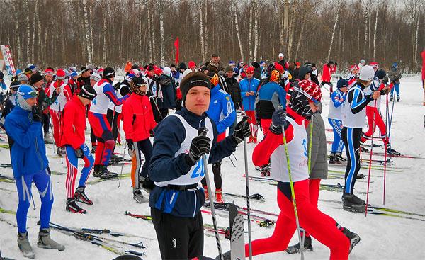 Фотография лыжников на старте Золотые купола