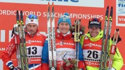 Петтер Нортуг (Норвегия), Никита Крюков (Россия), Алекс Харви (Канада)