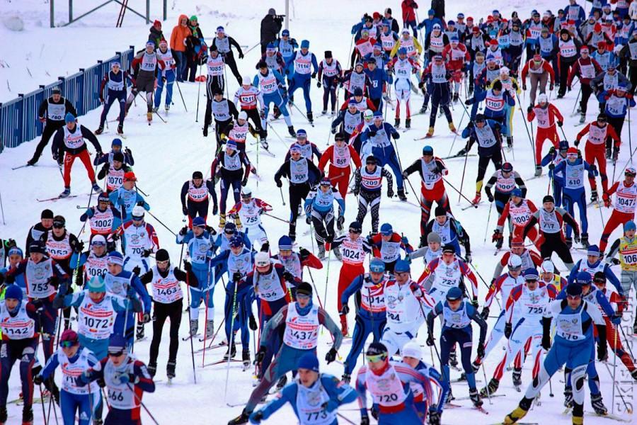 Старт Лыжни России 2013 в Демино