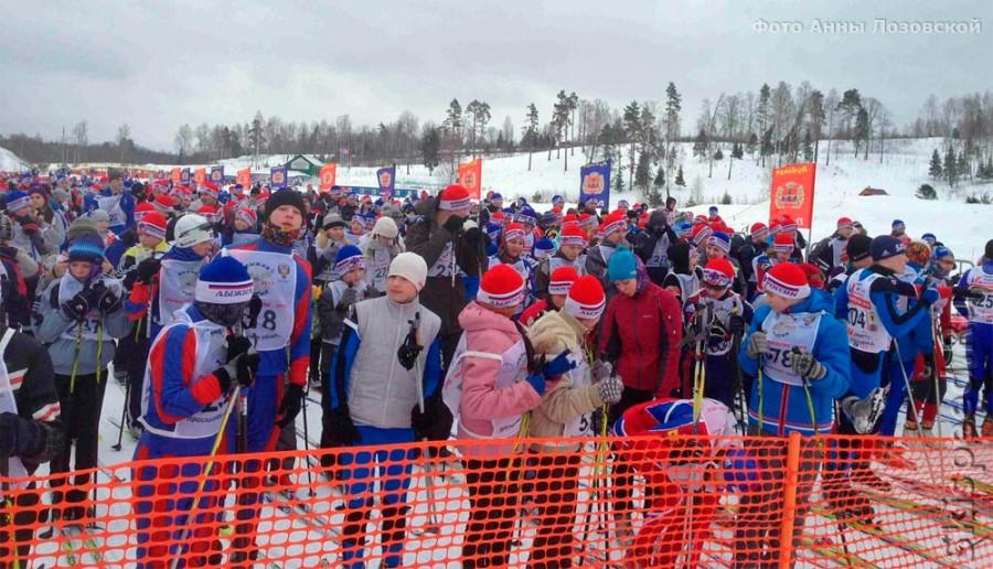 Стартовая зона на 5 км. Лыжни России 2013