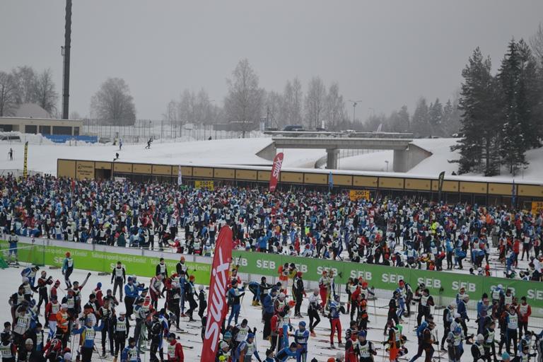 Старт Тартуского  марафонае