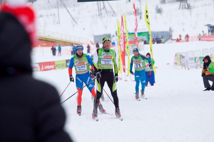 Костромич Эдуард Ковяшов составил серьезную конкуренцию спортсменам мирового уровня и на финише смог обойти и титулованного Алесея Иванова и Николая Морилова.