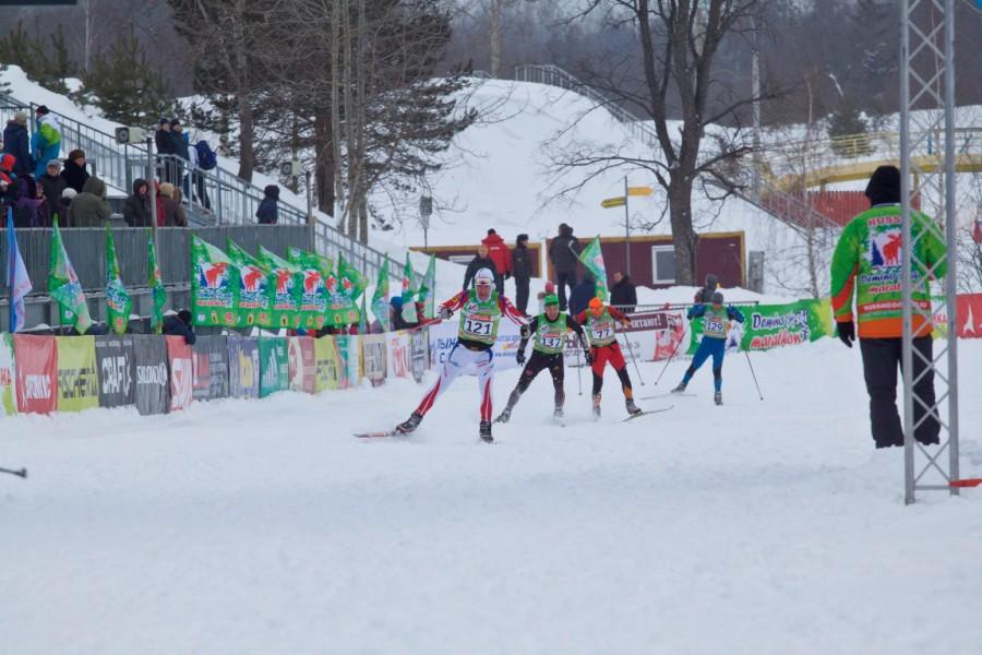 Жаркая борьба на финише Соболева Алексея.