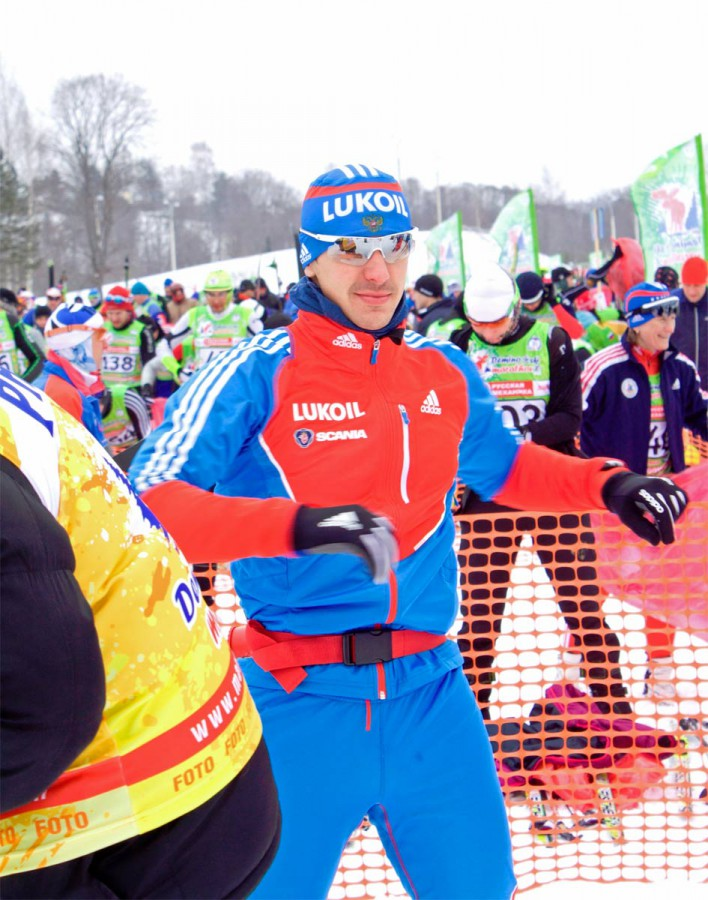 Николай Морилов, фото на Деминском марафоне 2013