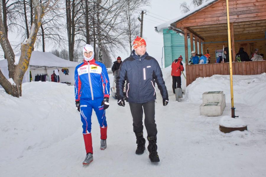 Вячеслав Суслов перед стартом.