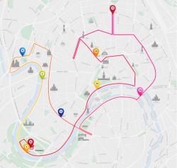 Схема Московского бегового марафона 2013