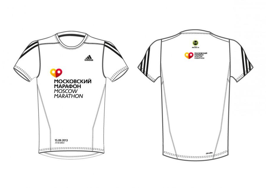 Футболки участников Первого Московского марафона 2013