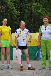 Фото Сергея Колгушкина на награждении забега Зелёный марафон 2013. Ярославль