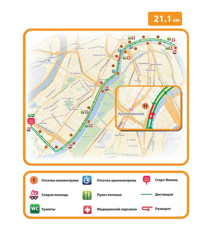 Схема дистанции на 10 км. - Осенний гром 2013
