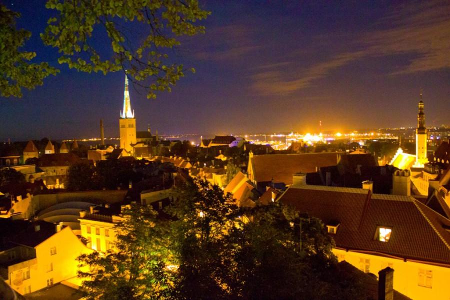 панорама города с одной из смотровых площадок