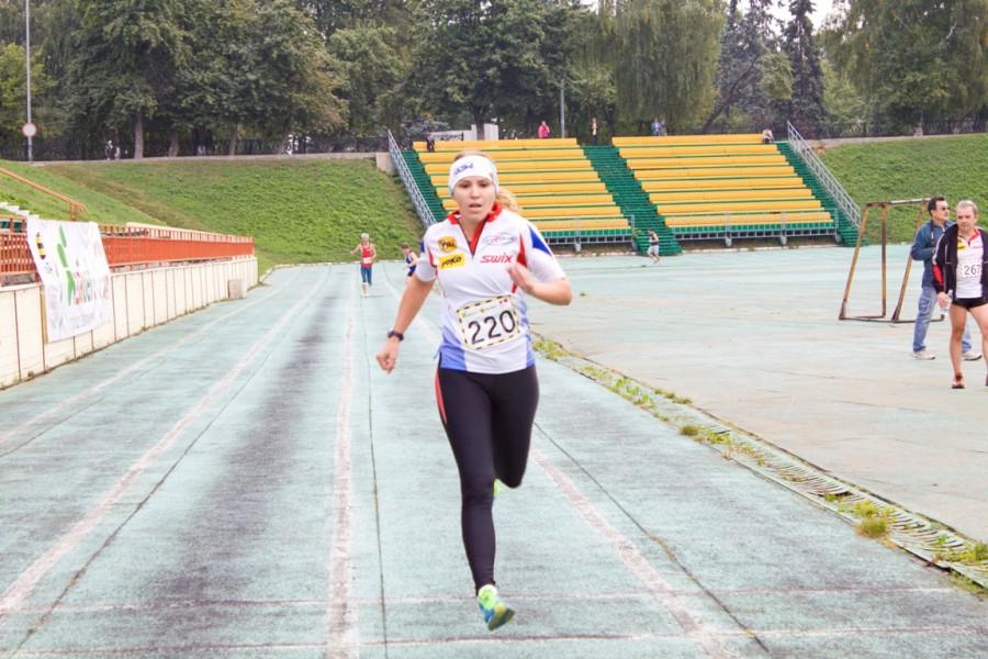 Фото Ирины Давыдовой на финише ЯзаБег 2013