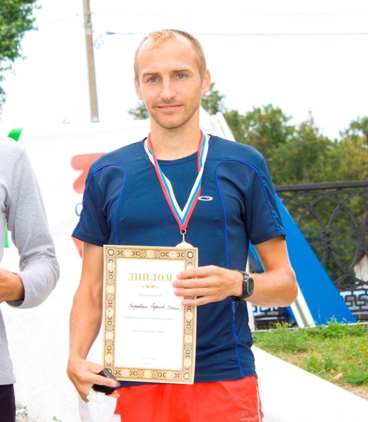 Победитель Сергей Коровин ЯзаБег 2013