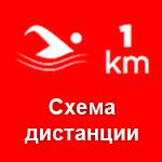 Схема дистанции триатлона в Эстонии 03.08.2014 - плавание