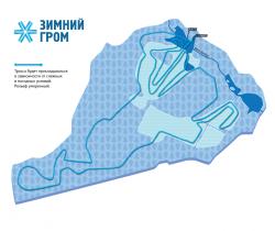 Лыжная дистанция Зимнего грома 2014. Фото
