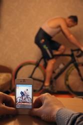 Съемка тестового видео настройки посадки на велосипед, фото