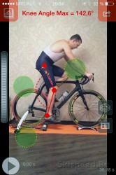 Настройка посадки на велосипед - угол при выпрямлении ноги, фото
