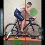 Настройка посадки на велосипед - вынос колена за педаль вела, фото