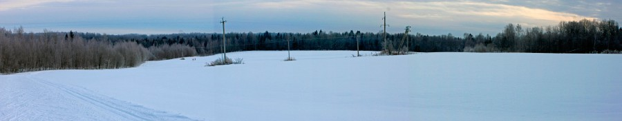 Фото лыжной трассы в с. Дмитриановское, Ростовского района