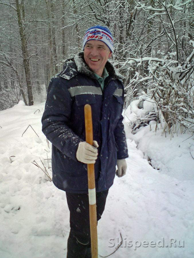 Подготовка лыжной трассы в Норском. Фото