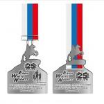 Медали бегового марафона Белые ночи 2014 в Санкт-Петербурге