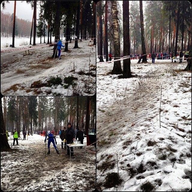 Ориентировщики ездят на лыжах по траве