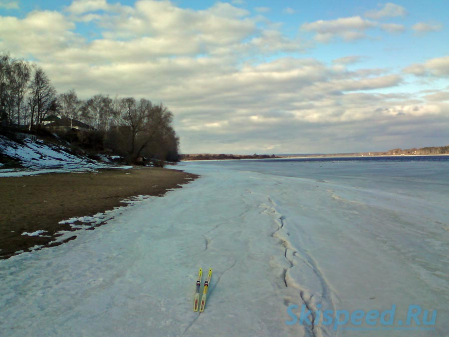 Фотография дистанции по берегу Волги от пос. Норское