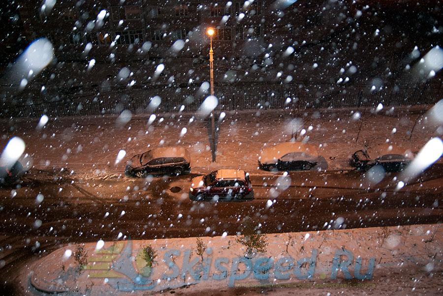 Первый снег в Ярославле, Брагино. Фото