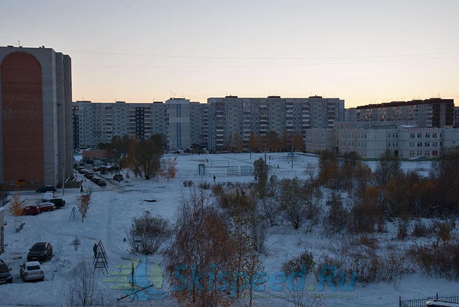 Первый снег в Ярославле 2014, Брагино. Фото