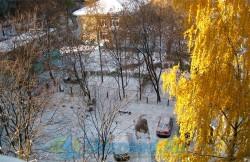 Фотография первого снега в Рыбинске 2014