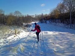 Фото с тренировки на лыжах в Норском 18.10.2014